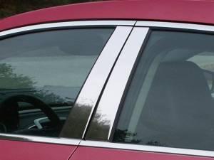 QAA - Buick LaCrosse 2010-2016, 4-door, Sedan (4 piece Stainless Steel Pillar Post Trim ) PP50520 QAA - Image 1