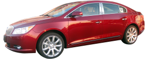 "QAA - Buick LaCrosse 2010-2016, 4-door, Sedan (8 piece Stainless Steel Rocker Panel Trim, Lower Kit 2.375"" - 3 0.75"" tapered Width, with Cut Out for factory trim Spans from the bottom of the door UP to the specified width.) TH50521 QAA - Image 2"