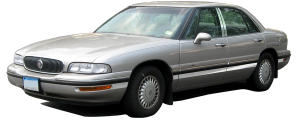 "QAA - Buick LeSabre 1997-1999, 4-door, Sedan (6 piece Stainless Steel Rocker Panel Trim, Full Kit 8.125"" - 8.625"" tapered Width Spans from the bottom of the molding to the bottom of the door.) TH37564 QAA - Image 2"