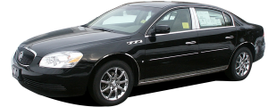 QAA - Buick Lucerne 2006-2011, 4-door, Sedan (4 piece Stainless Steel Pillar Post Trim ) PP46550 QAA - Image 2