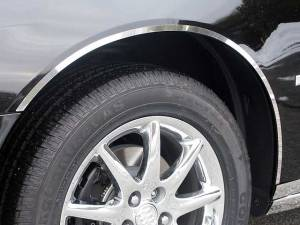 "Chrome Trim - Wheel Well/Fender Trim - QAA - Buick Lucerne 2006-2011, 4-door, Sedan (4 piece Stainless Steel Wheel Well Accent Trim 0.5"" Width, cut to fit with Rocker kit sold separately With 3M adhesive installation NO black rubber gasket edging.) WQ46550 QAA"