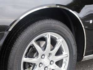 "Chrome Trim - Wheel Well/Fender Trim - QAA - Buick Lucerne 2006-2011, 4-door, Sedan (4 piece Stainless Steel Wheel Well Accent Trim 0.5"" Width, full length With 3M adhesive installation NO black rubber gasket edging.) WQ46551 QAA"