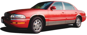 """QAA - Buick Park Avenue 1997-2005, 4-door, Sedan (6 piece Stainless Steel Rocker Panel Trim, Lower Kit 4"""" Width Spans from the bottom of the door UP to the specified width.) TH37586 QAA - Image 2"""