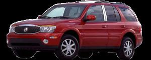 QAA - Buick Rainier 2005-2007, 4-door, SUV (4 piece Stainless Steel Pillar Post Trim ) PP44520 QAA - Image 2