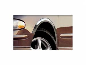 Chrome Trim - Wheel Well/Fender Trim - QAA - Buick Regal 1998-2004, 4-door, Sedan (4 piece Molded Stainless Steel Wheel Well Fender Trim Molding Clip on or screw in installation, Lock Tab and screws, hardware included.) WZ38575 QAA