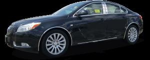 QAA - Buick Regal 2011-2017, 4-door, Sedan (6 piece Stainless Steel Pillar Post Trim ) PP51576 QAA - Image 2
