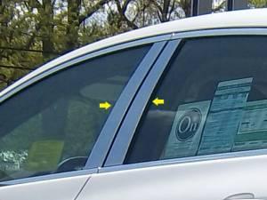 QAA - Buick Verano 2012-2017, 4-door, Sedan (4 piece Stainless Steel Pillar Post Trim ) PP52540 QAA - Image 1