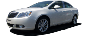 QAA - Buick Verano 2012-2017, 4-door, Sedan (8 piece Stainless Steel Pillar Post Trim Includes front front Pillar, behind the mirror, two pieces cover that front pillar section at the mirror, but is counted as one in the kit's piece count ) PP52542 QAA - Image 2