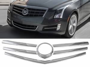 QAA - Cadillac ATS 2013-2015, 4-door, Sedan (6 piece Chrome Plated ABS plastic Grill Overlay ) SGC53235 QAA