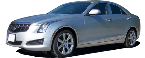 """QAA - Cadillac ATS 2013-2018, 4-door, Sedan (10 piece Stainless Steel Rocker Panel Trim, On the rocker & Lower Kit 7.375"""" Width Installs below the door AND Spans from the bottom of the door UP to the specified width.) TH53237 QAA - Image 2"""