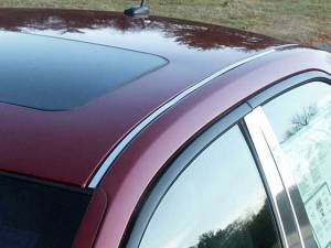 Chrome Trim - Roof Accents - QAA - Cadillac CTS 2003-2007, 4-door, Sedan (2 piece Stainless Steel Roof Insert Trim ) RI43250 QAA