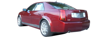 "QAA - Cadillac CTS 2003-2007, 4-door, Sedan (8 piece Stainless Steel Rocker Panel Trim, On the rocker & Lower Kit 5.25"" - 5.5"" tapered Width Installs below the door AND Spans from the bottom of the door UP to the specified width.) TH43250 QAA - Image 3"