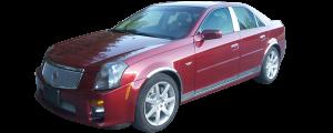 QAA - Cadillac CTS 2005-2007, 4-door, Sedan (1 piece Stainless Steel License Plate Bezel ) LP45250 QAA - Image 2