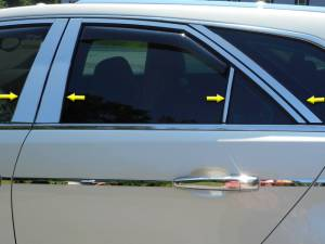 QAA - Cadillac CTS Sport Wagon 2010-2014, 4-door, Sport Wagon (8 piece Stainless Steel Pillar Post Trim ) PP50252 QAA