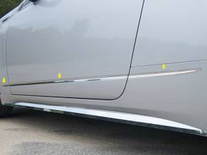 "Chrome Trim - More Trim Options - QAA - Cadillac CTS Coupe 2011-2014, 2-door, Coupe (6 piece Stainless Steel Body Molding Insert Trim Kit 0.75"" Width ) MI50254 QAA"