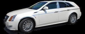 QAA - Cadillac CTS Sport Wagon 2010-2014, 4-door, Sport Wagon (12 piece Stainless Steel Window Trim Package Includes Upper Trim and Pillar Posts, NO Window Sills ) WP50251 QAA - Image 2