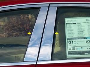 QAA - Cadillac CTS 2014-2019, 4-door, Sedan (4 piece Stainless Steel Pillar Post Trim ) PP54250 QAA - Image 1