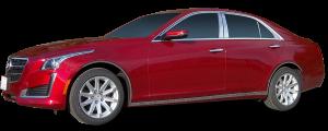 QAA - Cadillac CTS 2014-2019, 4-door, Sedan (6 piece Stainless Steel Pillar Post Trim ) PP54251 QAA - Image 2