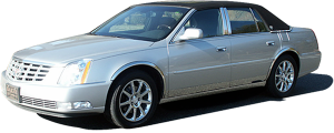 QAA - Cadillac DTS 2006-2009, 4-door, Sedan (1 piece Stainless Steel Gas Door Cover Trim Warning: This is NOT a replacement cap. You MUST have existing gas door to install this piece ) GC40245 QAA - Image 2