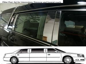 QAA - Cadillac DTS 2006-2011, Federal Hearse (6 piece Stainless Steel Pillar Post Trim ) PP40243 QAA - Image 1