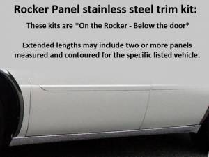 "QAA - Cadillac DTS 2006-2011, Limousine, 46"" Stretch (6 piece Stainless Steel Rocker Panel Trim, On the rocker 2.25"" Width, 46"" extension Installs below the door.) TH40256 QAA - Image 1"