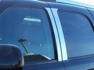 QAA - Cadillac Escalade 2002-2006, 4-door, SUV (4 piece Stainless Steel Pillar Post Trim ) PP42255 QAA - Image 1