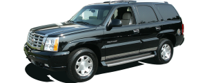 """QAA - Cadillac Escalade 2002-2006, 4-door, SUV (2 piece Stainless Steel Tailgate Accent Trim 3.25"""" Width, With handle cut out ) RT42255 QAA - Image 2"""