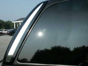 Chrome Trim - More Trim Options - QAA - Cadillac Escalade 2002-2006, 4-door, SUV (2 piece Stainless Steel Rear Window Trim ) RW42255 QAA