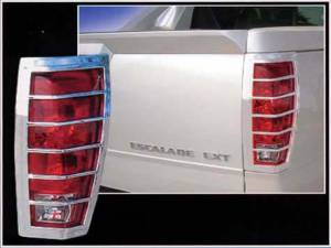 QAA - Cadillac Escalade 2002-2006, 4-door, EXT (2 piece Chrome Plated ABS plastic Tail Light Bezels ) TL42257 QAA