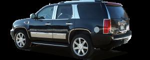 QAA - Cadillac Escalade 2007-2014, 4-door, SUV (1 piece Stainless Steel License Plate Bezel ) LP47195 QAA - Image 3