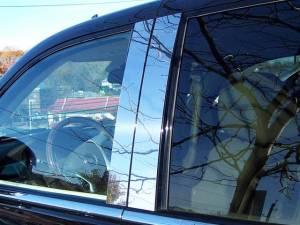 QAA - Cadillac Escalade 2007-2014, 4-door, EXT, ESV (4 piece Stainless Steel Pillar Post Trim ) PP47255 QAA - Image 1