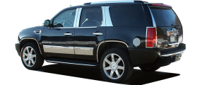 QAA - Cadillac Escalade 2007-2014, 4-door, SUV, Does NOT fit EXT OR ESV (8 piece Stainless Steel Pillar Post Trim ) PP47257 QAA - Image 3