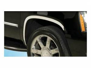 Chrome Trim - Wheel Well/Fender Trim - QAA - Cadillac Escalade 2007-2014, 4-door, ESV (4 piece Molded Stainless Steel Wheel Well Fender Trim Molding Clip on or screw in installation, Lock Tab and screws, hardware included.) WZ47256 QAA