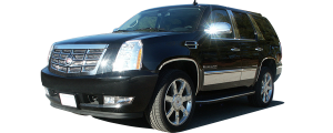 QAA - Cadillac Escalade 2007-2014, 4-door, ESV (4 piece Molded Stainless Steel Wheel Well Fender Trim Molding Clip on or screw in installation, Lock Tab and screws, hardware included.) WZ47256 QAA - Image 2