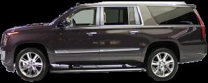 QAA - Cadillac Escalade 2015-2020, 4-door, ESV (8 piece Stainless Steel Pillar Post Trim ) PP55198 QAA - Image 2