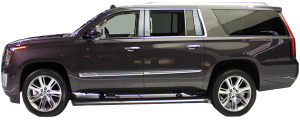 QAA - Cadillac Escalade 2015-2020, 4-door, ESV (10 piece Stainless Steel Pillar Post Trim Includes the vertical strip for the rear most pillar section ) PP55199 QAA - Image 2