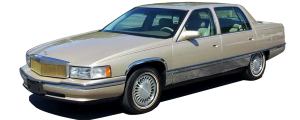 "QAA - Cadillac DeVille 1997-1999, 4-door, Sedan (6 piece Stainless Steel Rocker Panel Trim, Full Kit 7.5"" - 8.625"" tapered Width Spans from the bottom of the molding to the bottom of the door.) TH37246 QAA - Image 2"