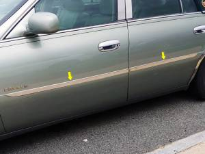 "QAA - Cadillac DeVille 2000-2005, 4-door, Sedan (4 piece Stainless Steel Rocker Panel Trim, Insert Kit 1"" Width Side Molding.) TH40240 QAA - Image 1"
