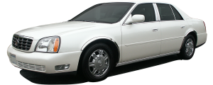 """QAA - Cadillac DeVille 2000-2005, 4-door, Sedan (8 piece Stainless Steel Rocker Panel Trim, Lower Kit 4.5"""" Width Spans from the bottom of the door UP to the specified width.) TH40245 QAA - Image 2"""