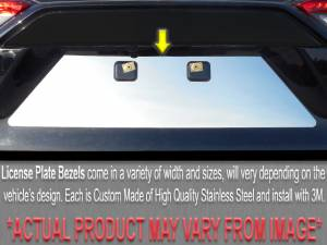 Chrome Trim - License Plate Accents - QAA - Cadillac Seville 1998-2004, 4-door, Sedan (1 piece Stainless Steel License Plate Bezel ) LP38236 QAA