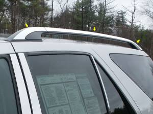 "Chrome Trim - Roof Accents - QAA - Cadillac SRX 2004-2007, 4-door, SUV (6 piece Stainless Steel Roof Rack Trim 1"" Width ) RR44260 QAA"
