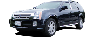 QAA - Cadillac SRX 2004-2009, 4-door, SUV (4 piece Stainless Steel Wheel Well Accent Trim With 3M adhesive installation and black rubber gasket edging.) WQ44260 QAA - Image 2