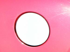 Chrome Trim - Fuel Door/Trim - QAA - Cadillac SRX 2010-2016, 4-door, SUV (1 piece Stainless Steel Gas Door Cover Trim Warning: This is NOT a replacement cap. You MUST have existing gas door to install this piece ) GC50260 QAA