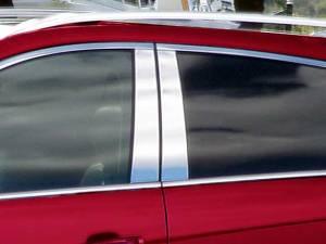 QAA - Cadillac SRX 2010-2016, 4-door, SUV (4 piece Stainless Steel Pillar Post Trim ) PP50260 QAA - Image 1