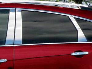 QAA - Cadillac SRX 2010-2016, 4-door, SUV (6 piece Stainless Steel Pillar Post Trim ) PP50261 QAA - Image 1