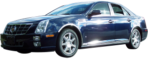 "QAA - Cadillac STS 2005-2011, 4-door, Sedan (6 piece Stainless Steel Rocker Panel Trim, Lower Kit 1.125"" Width, On the bottom of the doors Spans from the bottom of the door UP to the specified width.) TH45237 QAA - Image 2"