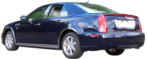 "QAA - Cadillac STS 2005-2011, 4-door, Sedan (6 piece Stainless Steel Rocker Panel Trim, Lower Kit 1.125"" Width, On the bottom of the doors Spans from the bottom of the door UP to the specified width.) TH45237 QAA - Image 3"