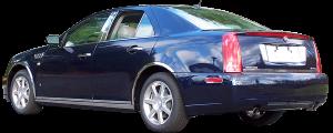 "QAA - Cadillac STS 2005-2011, 4-door, Sedan (4 piece Molded Stainless Steel Wheel Well Fender Trim Molding 1.75"" Width Clip on or screw in installation, Lock Tab and screws, hardware included.) WZ45236 QAA - Image 3"
