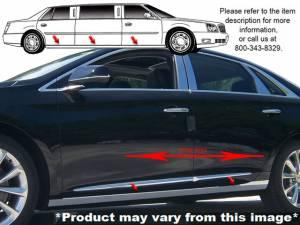 "QAA - Cadillac XTS 2013-2019, Limousine, 44"" Stretch (6 piece Stainless Steel Rocker Panel Trim, On the rocker 3.375"" Width Installs below the door.) TH53240 QAA - Image 1"