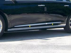 """QAA - Cadillac XTS 2013-2019, 4-door, Sedan (4 piece Stainless Steel Rocker Panel Trim, On the rocker 3.375"""" Width Installs below the door.) TH53246 QAA - Image 1"""